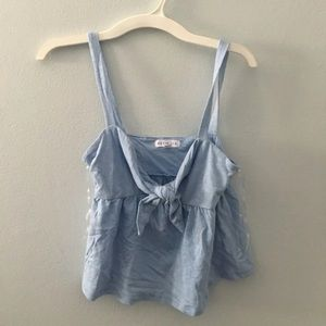 baby blue baby doll top